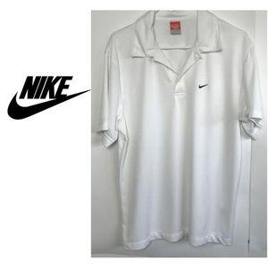 Nike Mens Athletic Dept Polo Shirt White Button L